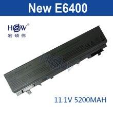 HSW 5200mAh Laptop Battery For dell Latitude E6400 M2400 E6410 E6510 E6500 M4400 M4500 PT436 PT437 KY477 KY265 KY266 KY268  akku