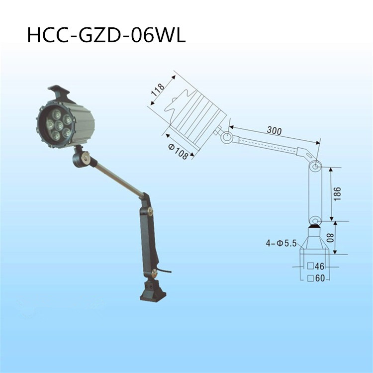 6W 110V/220V led Machine working lamp High power LED aluminum long arm light operation light, low temperature FlodableCNC  light  цена и фото