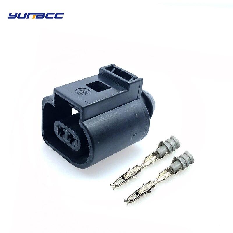 Conjuntos 10 2Pin 1.5 milímetros 1J0973702 VW/Audi Auto conector do sensor de Temperatura, plugue da válvula de deflação impermeável Fio conector Elétrico plug