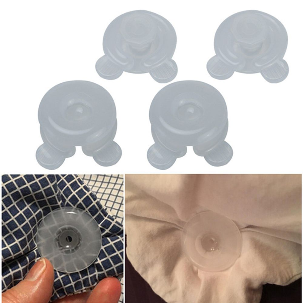 4Pcs/Set Comforter Grippers Bed Duvet Donuts Holders Gripper Blankets King Sheet Fastener Clips Craft Sewing Home Accessories