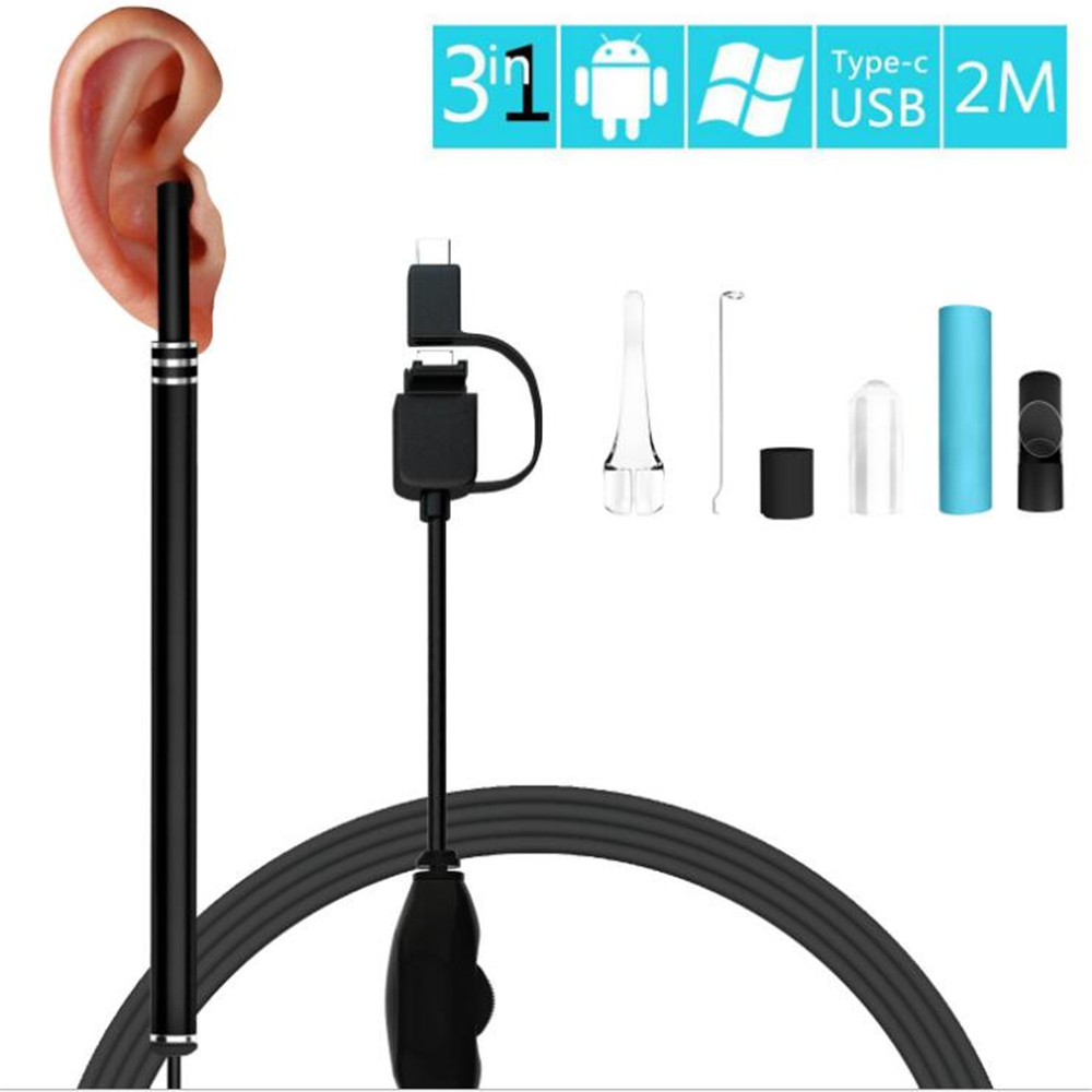 Multifunctional endoscope android Earpick USB Ear Cleaning HD Visual Ear Spoon With Mini Camera Ear small mini cam Cleaning
