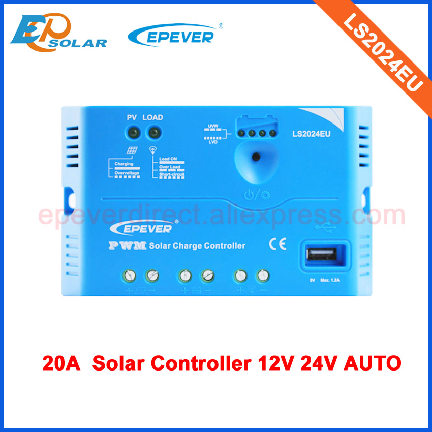 EPsolar PWM 20A 20amp Regulator solar panel charge Battery LS2024EU for 12v 24v auto typeEPsolar PWM 20A 20amp Regulator solar panel charge Battery LS2024EU for 12v 24v auto type