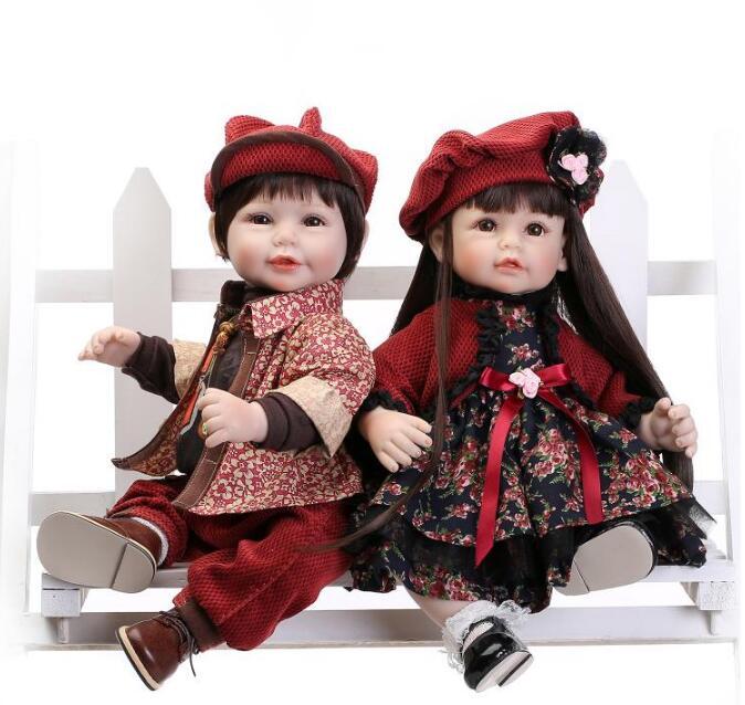 22 pouces solide silicone reborn bébés Reborn Silicone bébé poupées à vendre réaliste poupées nouveau-né BeBe Reborn