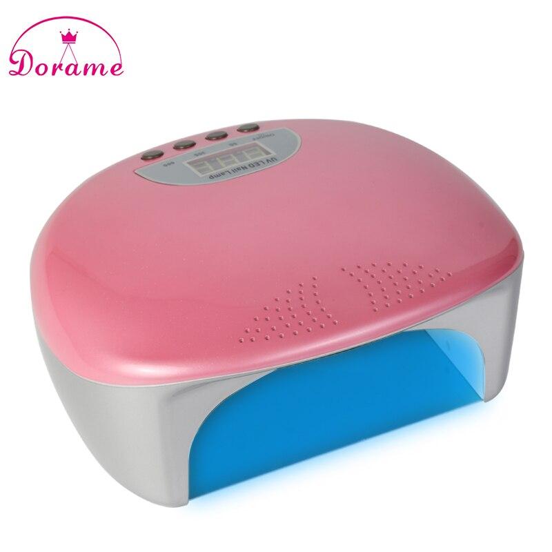 ФОТО Dorame SUNT9 48W Dual UV LED Nail UV Lamp Nail Dryer Gel Polish Curing Light with Bottom 5s/30s/60s Timer LCD display