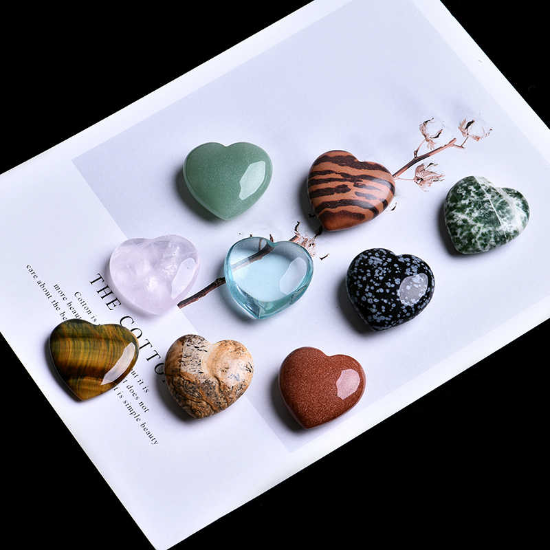 1 PC Natural Rose Quartz Heart Shape Love Mini Crystal Chakra Healing Gem Collector Therapist DIY Jewelry Couple Decoration
