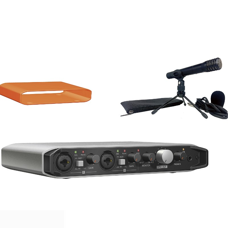 Tascam TM-60 Battery-Powered Condenser Microphone Bundle NEW