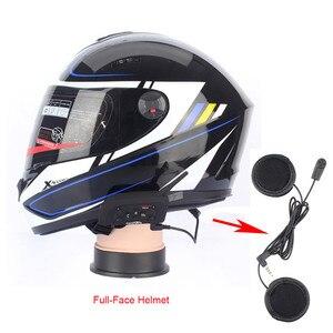Image 5 - Fodsports V6 Moto kask interkom kulaklıklar Max 1200M motosiklet kablosuz Bluetooth interkom Intercomunication