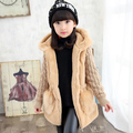 new winter children clothing  baby girls outerwear plus velvet thickening autumn and winter faux medium-long wadded jacket