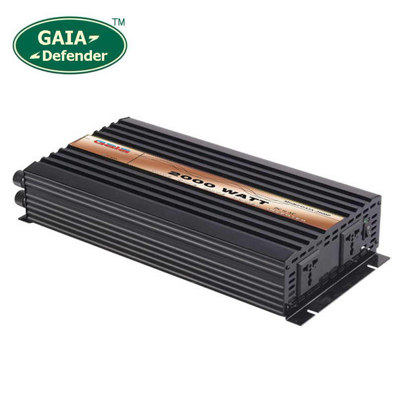 цена на 2000W Pure Sine Wave Power Inverter Peak 4000w off-grid DC12V 24V 48V AC 100V 110V 220V 230V 240V solar wind battery car