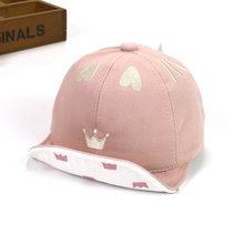 Ideacherry lindo corona del corazón del bebé sombreros de algodón  accesorios bebé recién nacido del niño gorra de béisbol ajusta. 742fa7125e3
