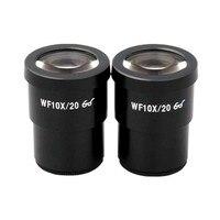 무료 배송-amscope two 10x super widefield 현미경 접안 렌즈 (dia 30mm)