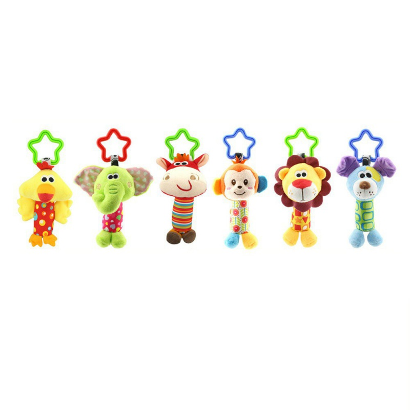 Quality Plush Toys Bed Baby Mobile Hanging Baby Rattles Toy Giraffe With Bell Ring Infant Teether Toys Gift