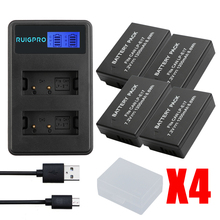 4pcs LP-E17 Battery Pack LP E17 lpe17 Batteries For Canon EOS Rebel T6i 750D T6s 760D M3 8000D Kis accessories