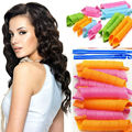 18pcs Creative Magic Hair Curlers Rollers Curling Iron Wand Twist Spiral Circle with 2 Stick Hooks  DIY Hair Styling Rollers Too