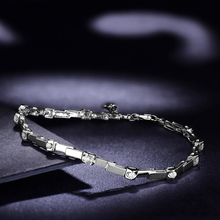 Natural Diamond Bracelet for Women 0 30ct 12pcs Diamond Jewelry 18K White Gold 18cm Length Handmade