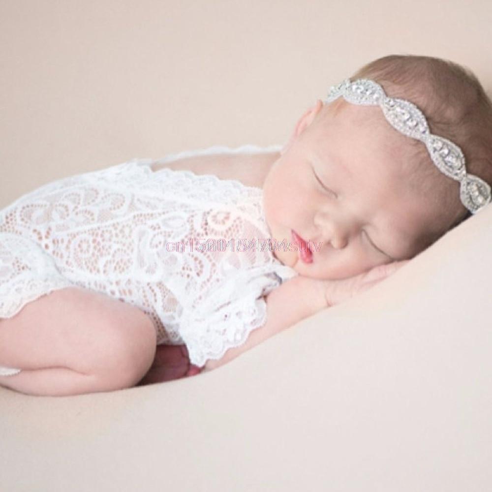 Baby Cute Romper Жалпы Pixie кружева Жаңа туған фотосуреттер Принстон ханшайым қыз # H055 #