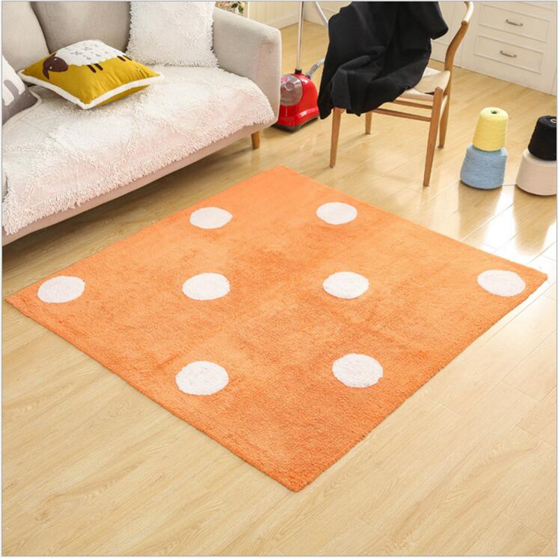 140X160cm Simple Creative Soft Cotton Carpets For Living Room Bedroom Rugs Home Carpet Delicate Hand Woven Area Rug Door Mat