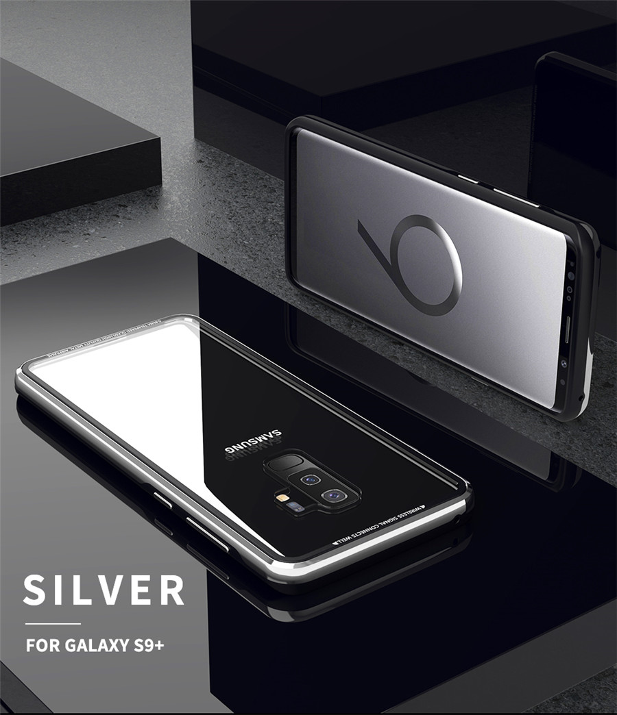 Luxury Aluminum Phone Cases For Samsung galaxy s9 Original R-just Hardness Tempered Glass Cover Case S9 Plus S9+ Accessories (11)