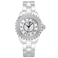 Буреи 18003 Швейцария часы женщины люксовый бренд J12 серии Австрия diamond Керамика календарь двойной белый relogio feminino