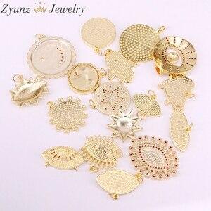 Image 5 - 30 pièces de pendentifs en émail, mélange aléatoire, perles oculaires en émail, rondes, étoiles, lèvres, mains, yeux, pour collier, découvertes pour bijoux