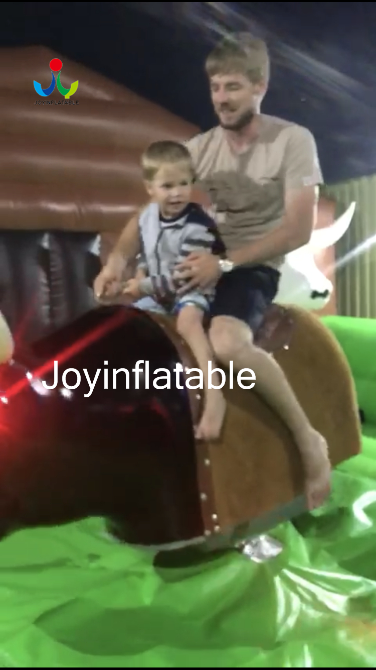 55M Inflatable Mechanical Bull Riding with Inflatable Safe Mat Around 44