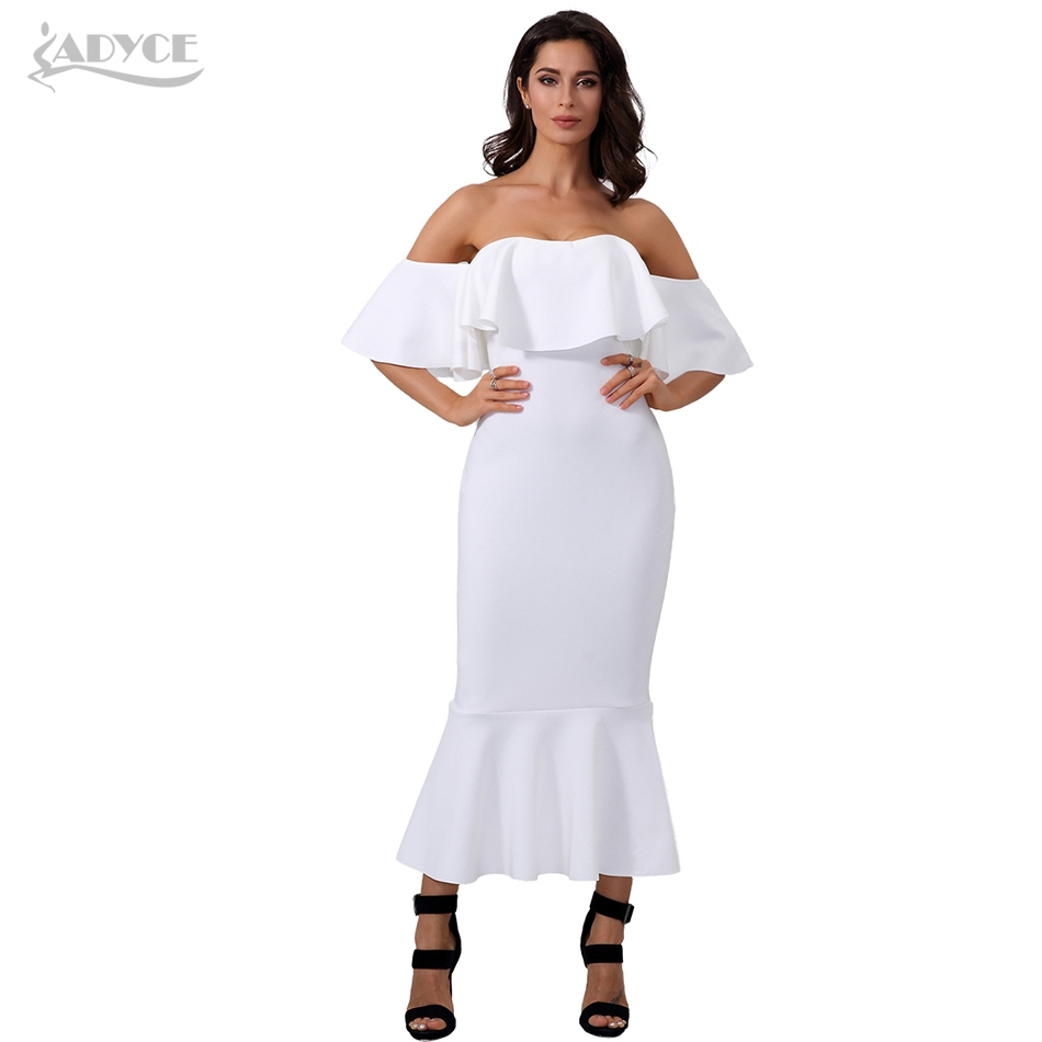 Adyce új nyári Bodycon fehér ruha Vestidos Verano 2019 Elegáns - Női ruházat - Fénykép 2