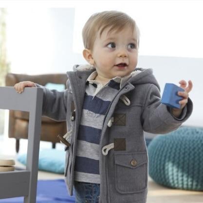 Retail 2015 fashion boys thicken jackets coat children