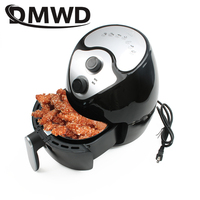 DMWD Electric Deep Fryer NO Oil Smokeless Frying Oven Pot 2.6L Potato Fried Chicken French Fries Machine Grill Cooker 110V 220V