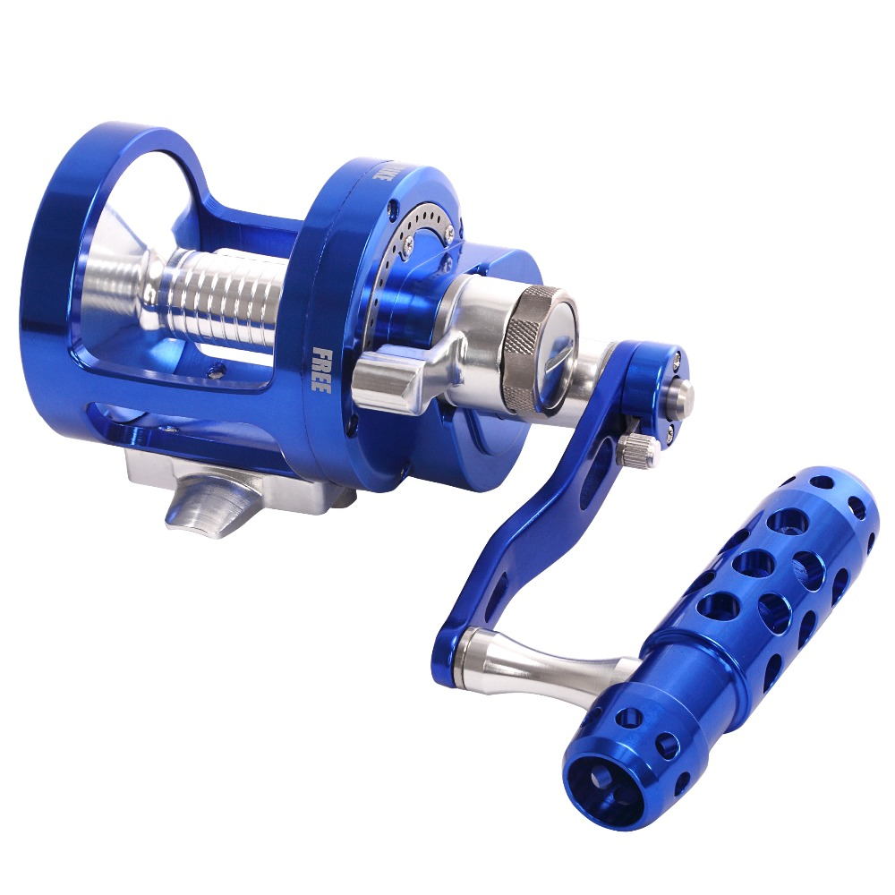 SALTWATER JIGGING DEEP SEA BOAT TROLLING BIG GAME FISHING REEL CONVENTIONAL REEL CNC MACHINED 2 SPEED