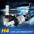Linterna del coche del Bulbo Hi-lo Haz COB Faros LED 72 W 8000LM 6500 K Auto Faro 12 v 24 v luz de niebla H4 H7 H8 9005 9006