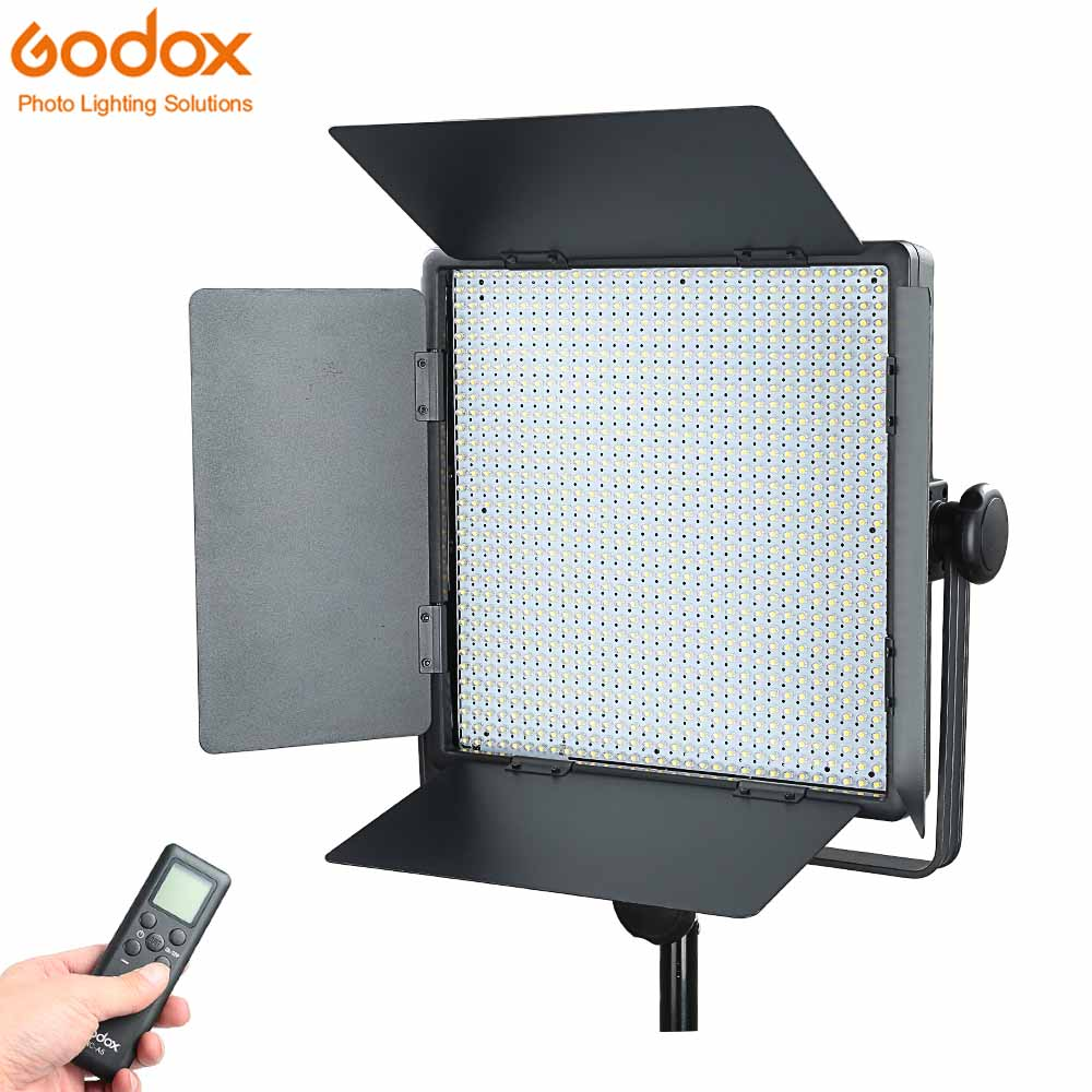 Godox LED1000C Studio Video Light Lamp for Camera Camcorder Wireless Remote Changeable Version 3300K-5600K changeable version godox 2000 2x 1000 led photo studio video continuous light kit for photography wedding camera camcorder dv