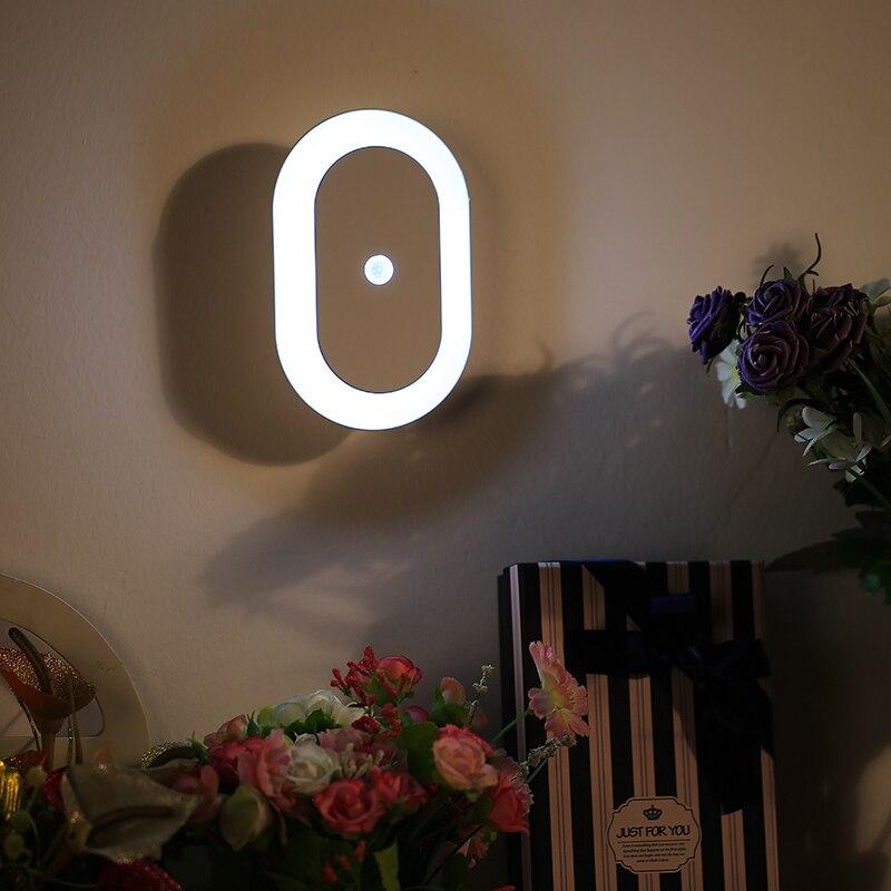 Modern Smart Design 4.5V 1W 50/60HZ LED AA Battery Infrared Nightlight PIR Motion Sensor Night Light For Baby Bedroom Gift
