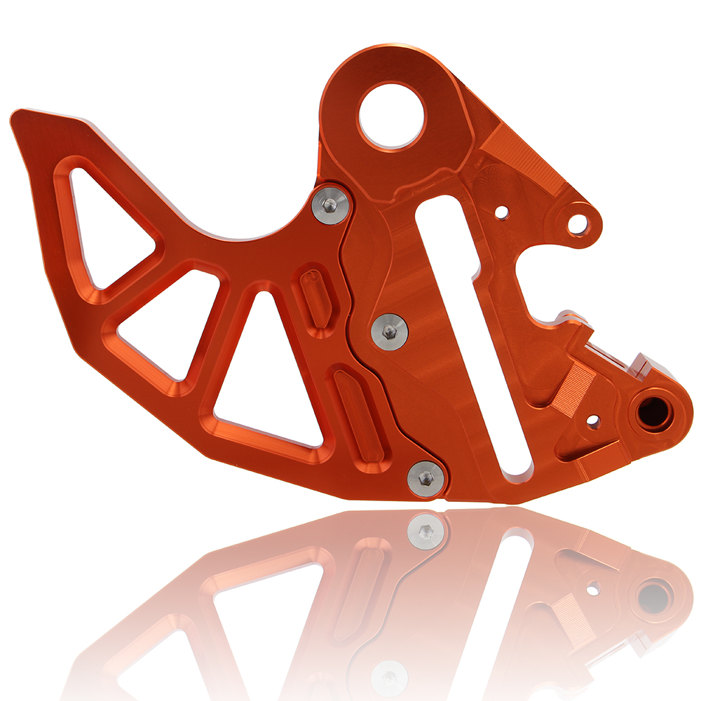 Orange Motorcycle CNC Billet Rear Brake Disc Guard Fit for KTM 125-530 SX/SX-F 2004-2012 125-530 EXC/EXC-F/XC-W/XCF-W 04-15 D25