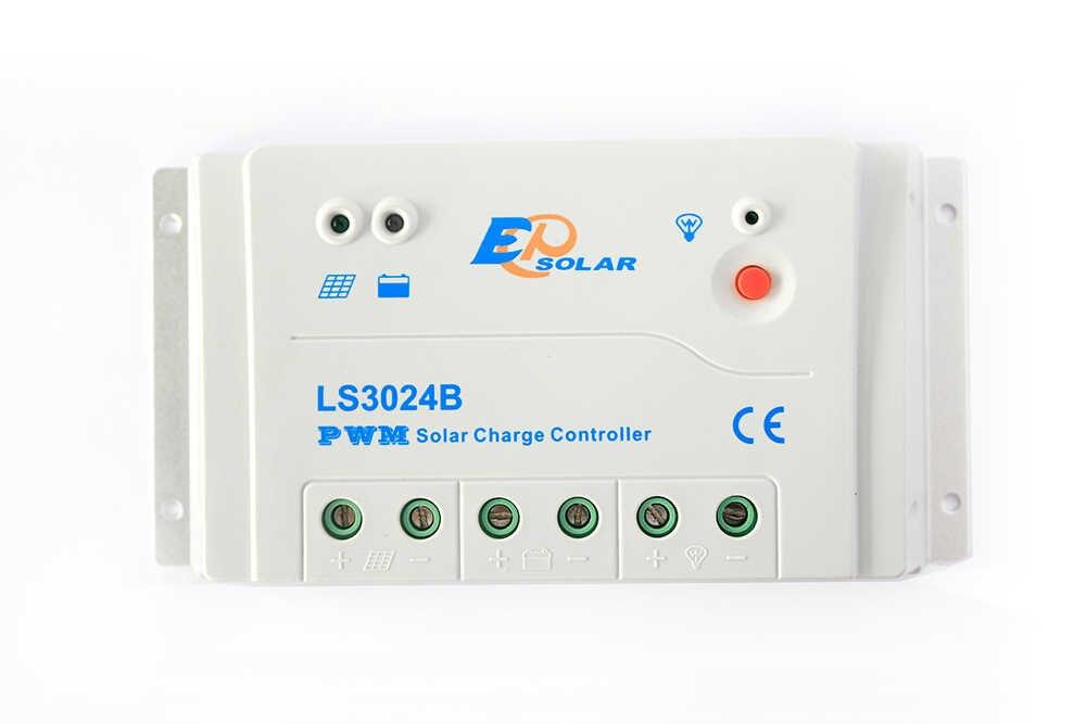 EP nowa seria PWM kontroler słoneczny LS3024B 30A 30amp regulator ładowania EPsolar 12V 24V zastosowanie do systemu domowego