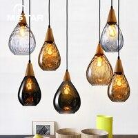 Simple Bar Restaurant Single Head Droplight Wood Glass Bottle Pendant Lamp