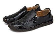 Automne Hiver Hommes Casual Chaussures Noir Blanc de Split En Cuir Hommes Mocassins 2018 Mode Plat Hommes Chaussures Mocassins Chaussures KMD01-24-1 C1