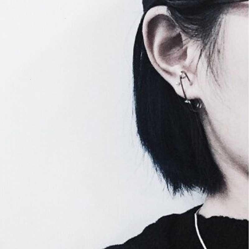 Darmowa wysyłka Fashion Party Punk Rock krótki styl//czarny osobowość Alloy agrafki przebicie kolczyk dla kobiet mężczyzn