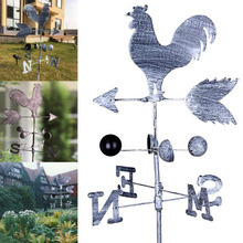 2019 HOT Traditional Rooster Weathervanes Iron Cock Wind Vane Wind Speed Direction Indicator Garden Yard TI99