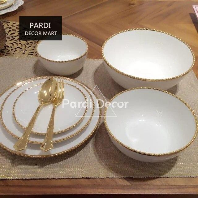 japonais style d 39 or ondul s bord plaque bol assiette dessert petit d jeuner plats vaisselle 1. Black Bedroom Furniture Sets. Home Design Ideas