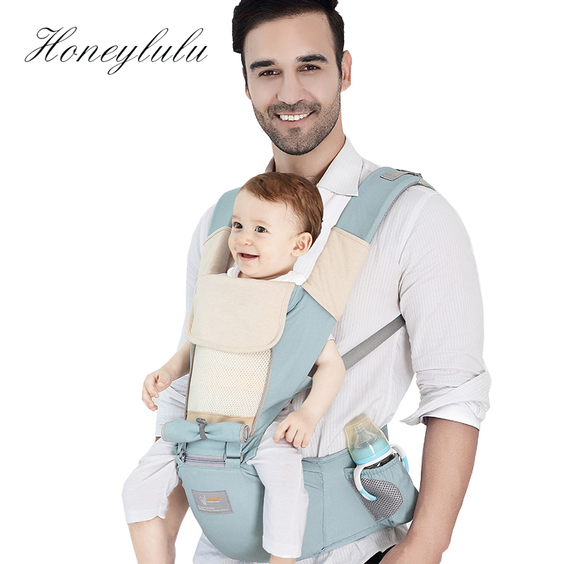 Honeylulu Summer Breathable Baby Carrier Honeycomb Mesh Sling For Newborns Multifunction Kangaroo For Baby Ergoryukzak HipsitHoneylulu Summer Breathable Baby Carrier Honeycomb Mesh Sling For Newborns Multifunction Kangaroo For Baby Ergoryukzak Hipsit