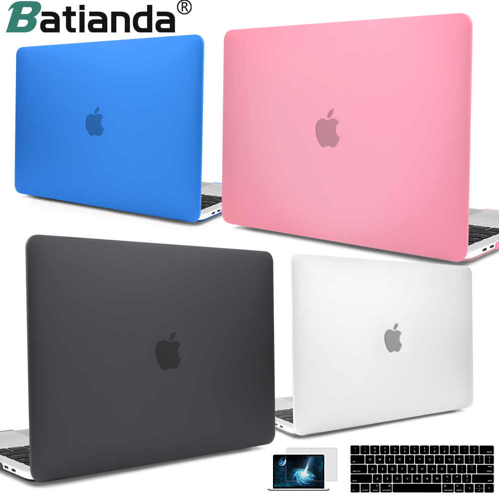 Voor Macbook Retina Pro Air 13 15 16 Inch 2020 A2179 2019 A2251 A2159 A1932 A2289 Touch Bar & Toetsenbord cover Clear Grijs Hard Case