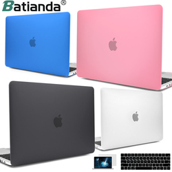 Для MacBook Retina Pro Air 13 15 16 дюймов 2019 A2141 A2159 A1932 A1990 чехол для сенсорной панели и клавиатуры прозрачный матовый жесткий чехол