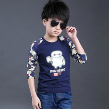 Character Print Blouse Boys Patchwork Clothes Kids Wear Children Spring Blouse With Character 100% Cotton For Baby Kids