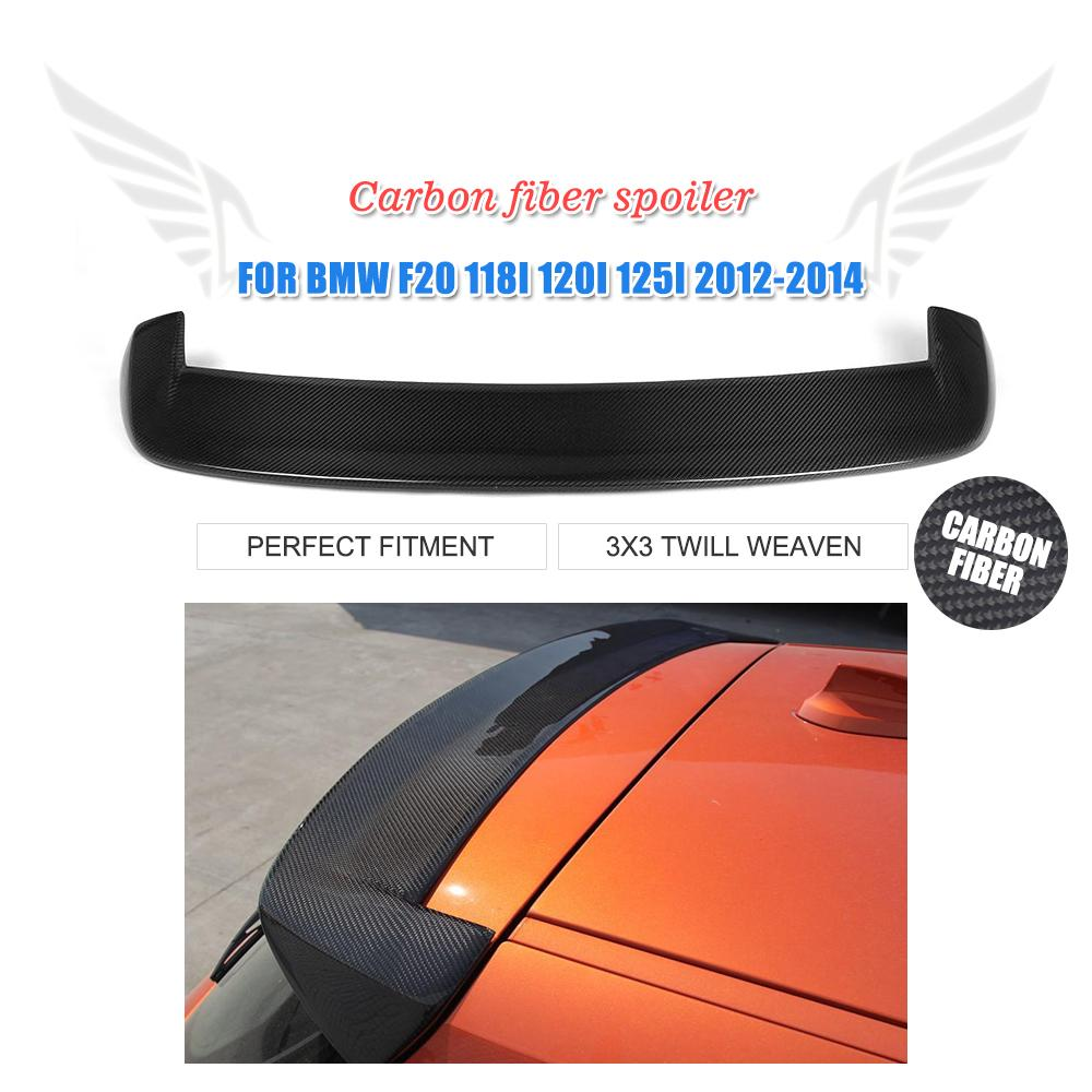 For BMW F20 2012 - 2016 Carbon Fiber Rear Roof Spoiler 116i 118i 125i F20 F21 Spoiler 3D style Rear Spoiler FRP Unpainted frp fiber glass rear roof spoiler body kit accessories for mazda rx8 all model