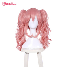 L-email wig Japanese Fate/EXTRA Tamamo no Mae Cosplay Wigs Long Pink Heat Resistant Synthetic Hair Perucas Cosplay Wig