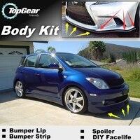 For TOYOTA Urban Cruiser ist For Scion xD xA Bumper Lip / Front Spoiler Deflector For Car View Tuning / Body Kit / Strip Skirt