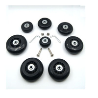 Replacment Spinner Luggage Suitcase Inline Skate Wheels Diameter 45 19MM With Bolt Rivets 4 Pcs