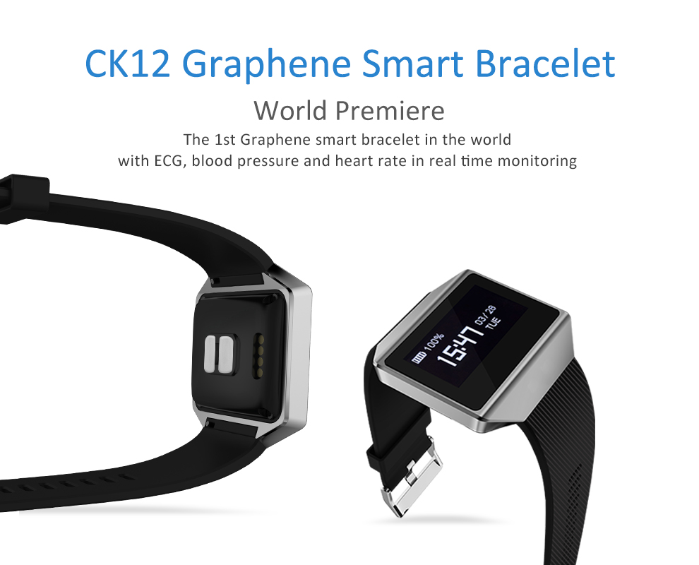 CK12 graphene smart watch ECG heart rate blood pressure sleep monitoring smart wristbands for android ios pedometer sport watch 3