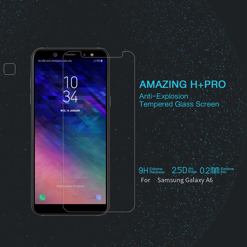 Nillkin for Samsung Galaxy A6 2018 screen protector glass temmpered protective film 9H 2.5D camera protection