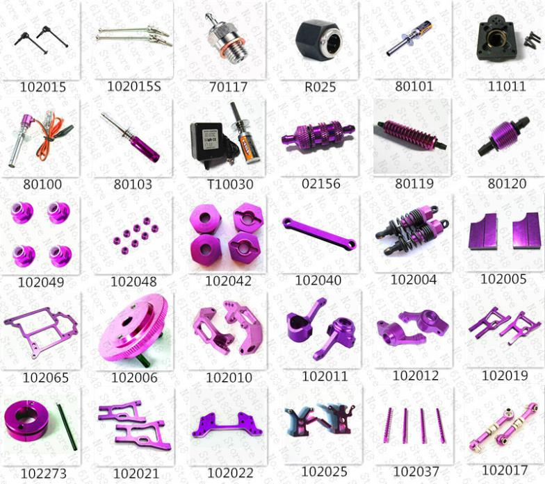 HSP Spare Parts Acessories Upgrade Aluminum Alloy For HiSpeed Himoto 1/10 4WD R/C Model Car On Road Baja SONIC Nitro Power 94102